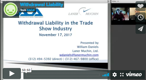 17 11 17 Withdrawal Liability Webcast - Exhibitor Appointed